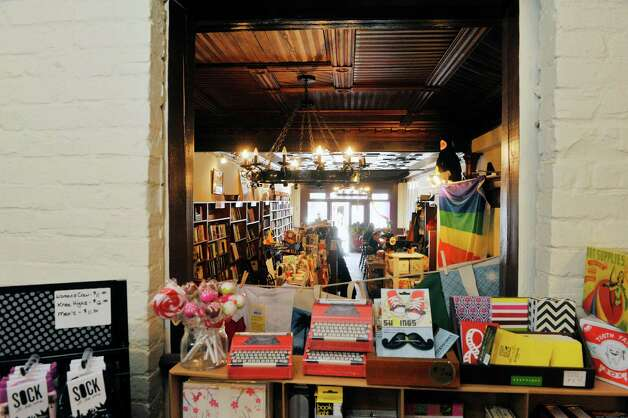 A view from the art supply room into the book room inside the Spotty Dog Books & Ale store on Warren St. on Thursday, June 25, 2015, in Hudson, N.Y.   (Paul Buckowski / Times Union) Photo: PAUL BUCKOWSKI / 00032353A