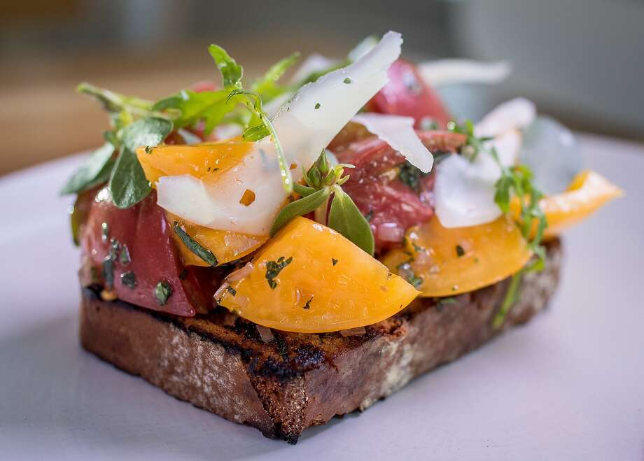 The marinated heirloom tomatoes at Lord Stanley in San Francisco. Photo: John Storey, Special To The Chronicle