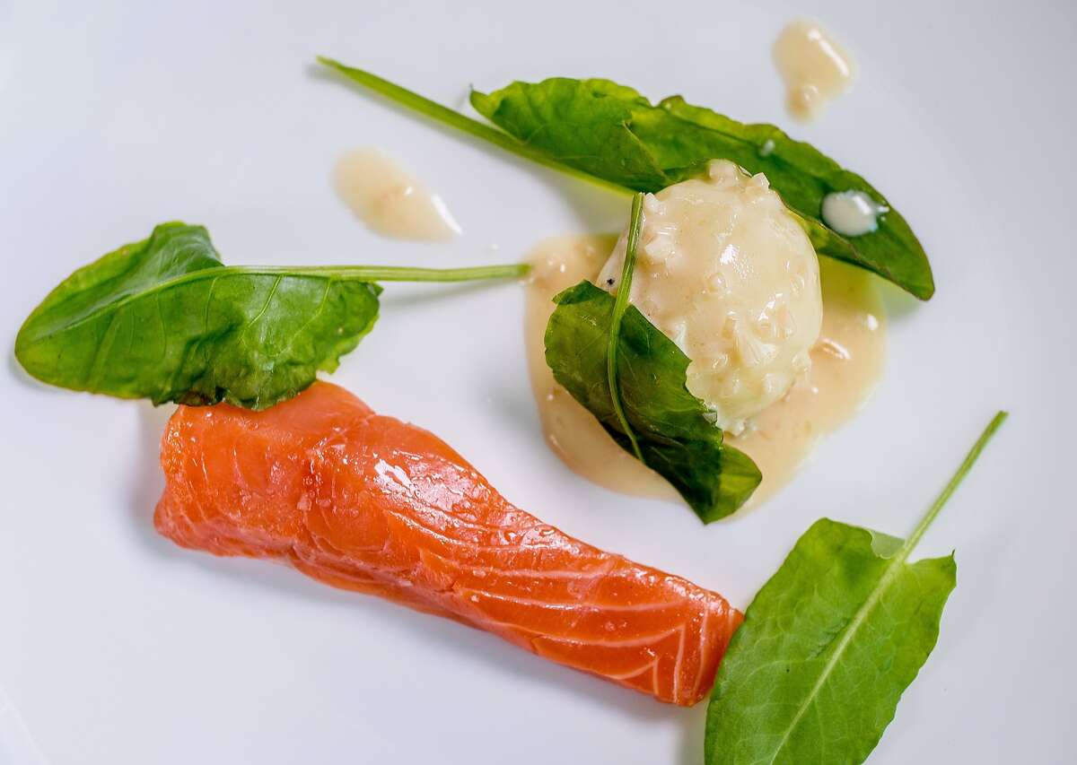 Salmon with Beurre Blanc and Sorrel at Lord Stanley in San Francisco, Calif., is seen on July 30th, 2015.