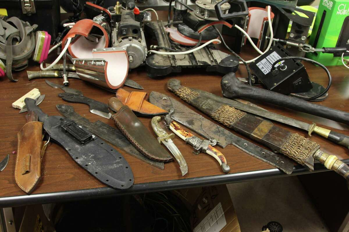 San Antonio police have charged three men with the burglary of over $10,000 worth of items from a tactical store Friday morning.