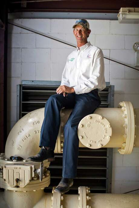 "Blake Partridge is the utilities superintendent for Universal City, which was recently awarded second place in the American Water Works Association's ""Best of the Best"" Tap Water Taste Test competition. He posed for a portrait at the Universal City Public Works Service Center. Photo: Ray Whitehouse /San Antonio Express-News / 2015 San Antonio Express-News"