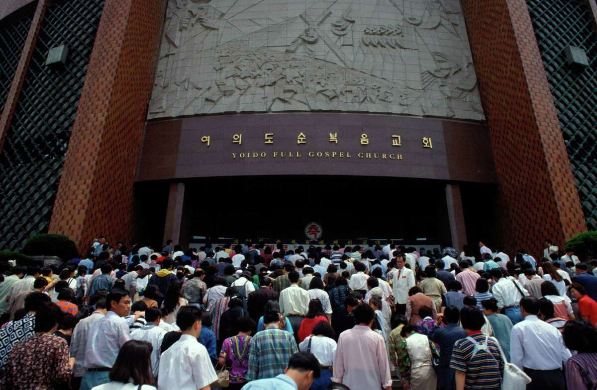 Yoido Full Gospel Church on a Sunday.