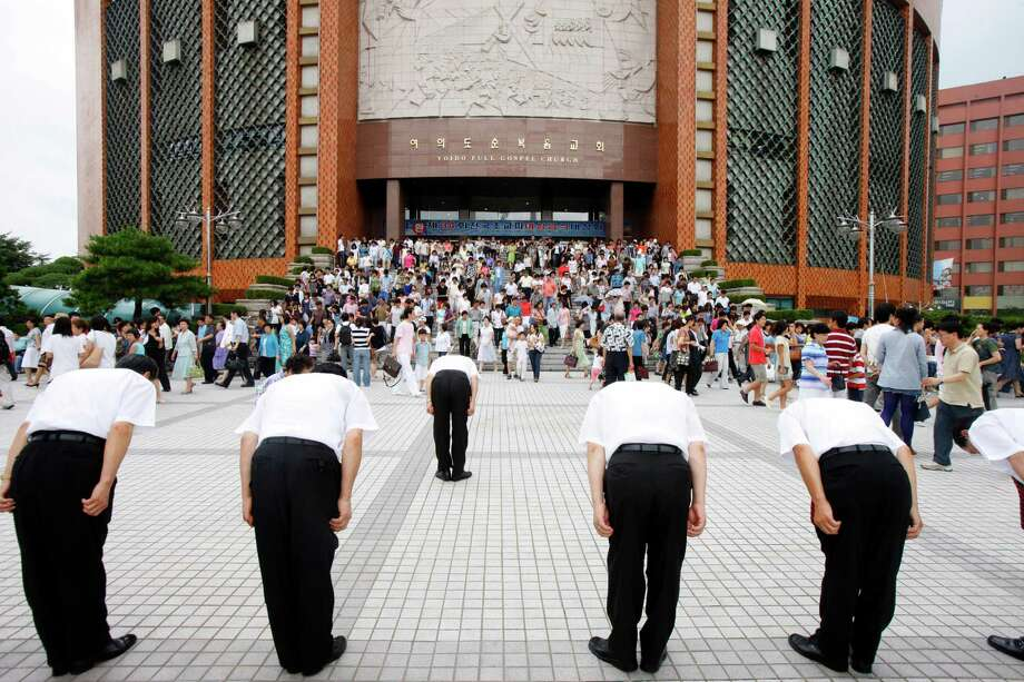 Yoido Full Gospel Church, the largest megachurch in the world in South Korea. Photo: Pascal Deloche / GODONG, Getty Images / GODONG   contact@godong-photo.com