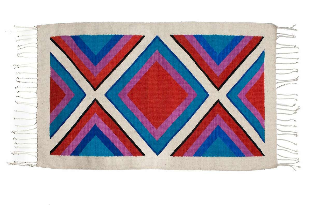 Rugs by Roseli Ilano, an Oakland-based textile designer. Ship shape rug, $400, available in 3 colors.