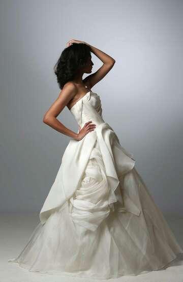 a6a6911d6c 3of31Brittany Fague models a Vera Wang wedding gown