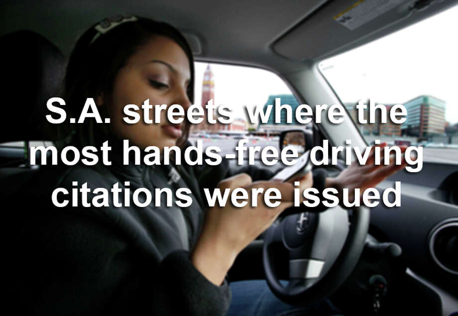 Have you been guilty of — or seen others — still using your phone while driving around town?This is where the most drivers were busted during the first five months of enforcing the hands-free cellphone ordinance. Photo: Elaine Thompson, SAEN / AP