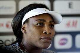 US tennis playere Serena Williams speaks at a news conference in Bastad, Sweden, on July 14, 2015. Williams will play her first tennis match in the Swedish Open i Bastad on July 15.  AFP PHOTO / TT NEWS AGENCY / ADAM IHSE ** SWEDEN OUT **ADAM IHSE/AFP/Getty Images