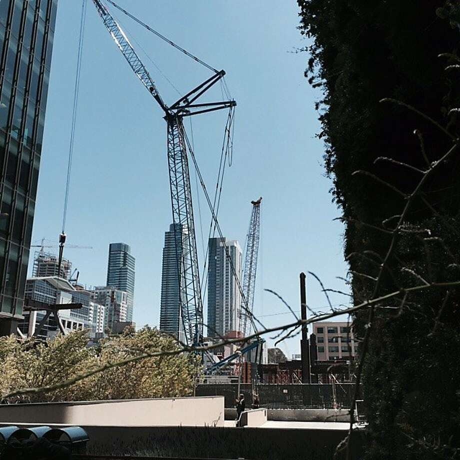 Our Native Son, Carl Nolte, explores the new landscape along Mission Street near Transbay, where the old and new cities overlap, creating unexpected spaces and impressions along the way. Photo: Carl Nolte, The Chronicle