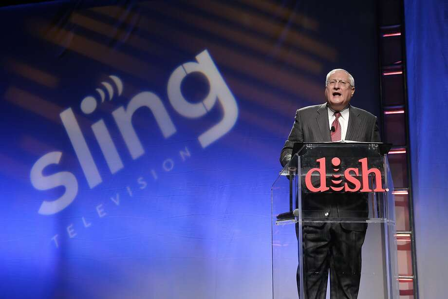 Joe Clayton, president and CEO of Dish Network, introduces the Sling TV, a live television streaming service, at a news conference at the International CES, Monday, Jan. 5, 2015, in Las Vegas. (AP Photo/Jae C. Hong) Photo: Jae C. Hong, Associated Press