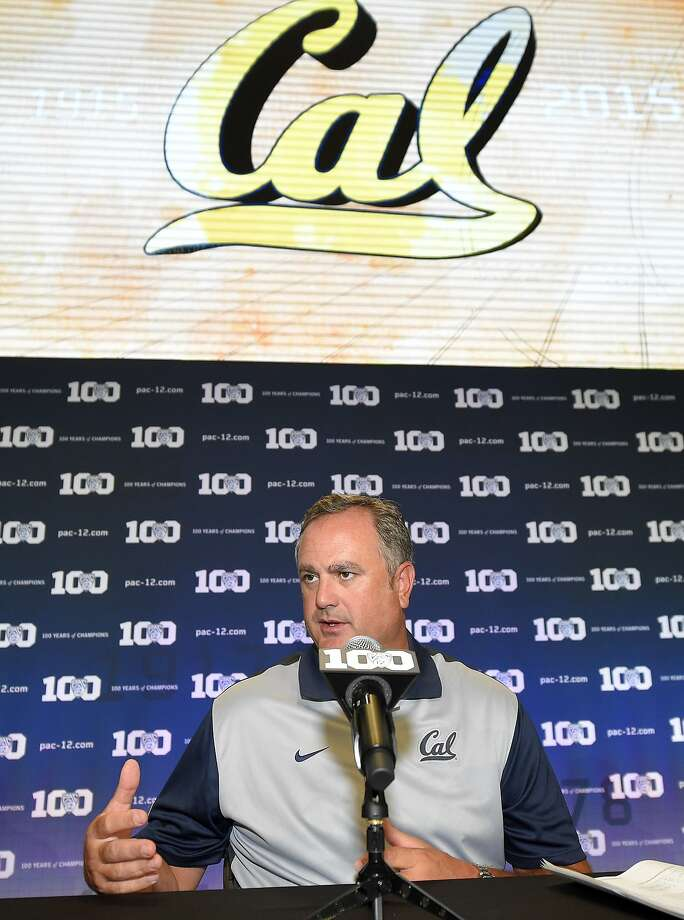 California head coach Sonny Dykes speaks to reporters during NCAA college Pac-12 Football Media Days, Friday, July 31, 2015, in Burbank, Calif. (AP Photo/Mark J. Terrill) Photo: Mark J. Terrill, Associated Press