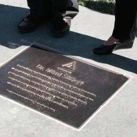 The bronze Pathway plaque, honoring Dr. Mimi Silbert