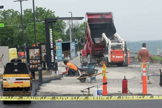 New Starbucks being constructed at Troy Plaza/Hudson River Commons on Thursday July 30, 2015 in Troy, N.Y. (Michael P. Farrell/Times Union) Photo: Michael P. Farrell / 10032834A