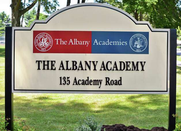 Sign at the Albany Academies Friday July 31, 2015 in Albany, NY.  (John Carl D'Annibale / Times Union) Photo: John Carl D'Annibale / 10032857A