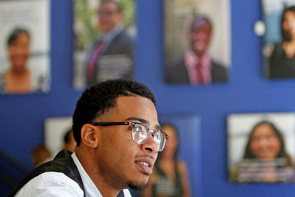 Eric Mason, a student at Year Up, was bagging groceries in Oakland when he learned about the program in San Francisco.