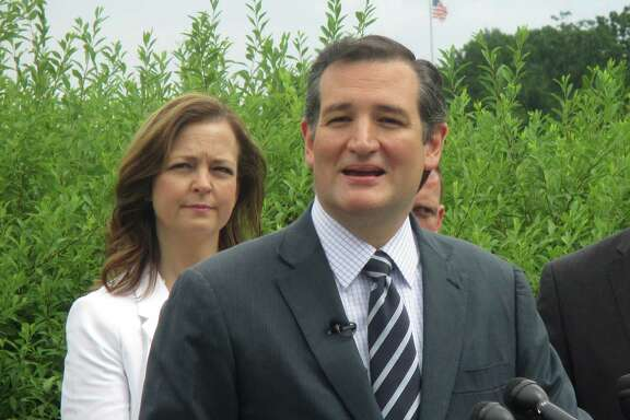 Ted Cruz speaks at a press conference today about the Export-Import Bank. Photo by Jennifer Reiley / Houston Chronicle.