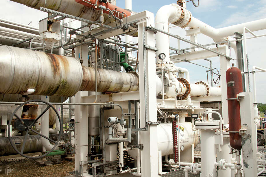 The turbo expander is a key component for the operation of the West Beaumont Plant of DCP Midstream. DCP Midstream, among the largest natural gas gathering firms in the nation, slashed spending in January Photo: Houston Chronicle File Photo