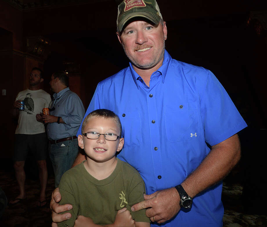 """Tracy and Hunter Rothenberger, 9, were at the Classic Movie Night showing of """"Smokey and the Bandit"""" Friday at the Jefferson Theatre in Beaumont. Photo taken Friday, July 31, 2015 Kim Brent/The Enterprise Photo: Kim Brent / Beaumont Enterprise"""