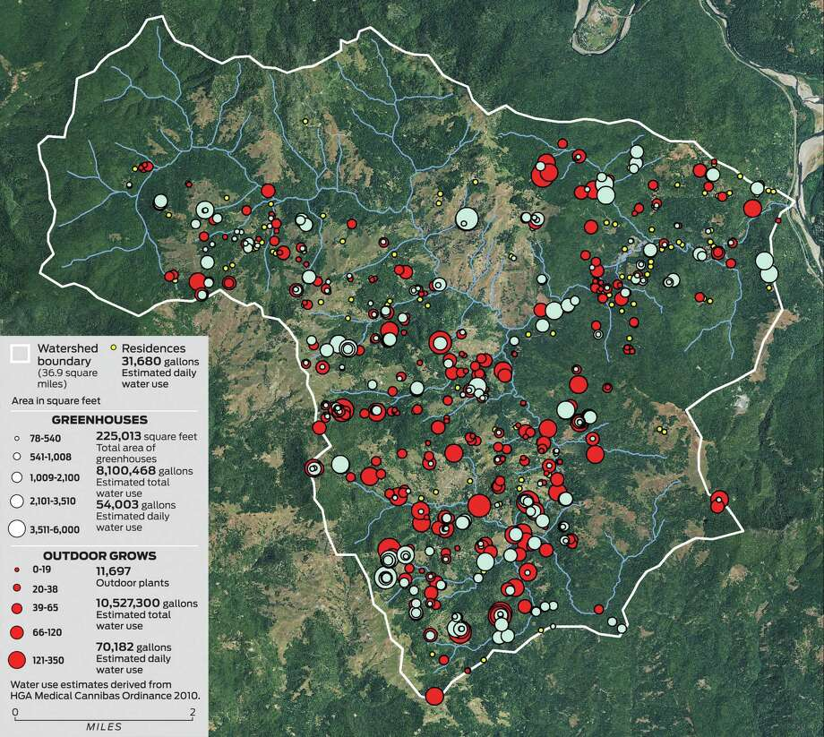 The Salmon Creek Watershed in Humboldt County. Imagery source: Agriculture Imagery Program 2012, U.S. Department of Agriculture, Farm Services Agency Photo: California Department Of Fish And Wildlife