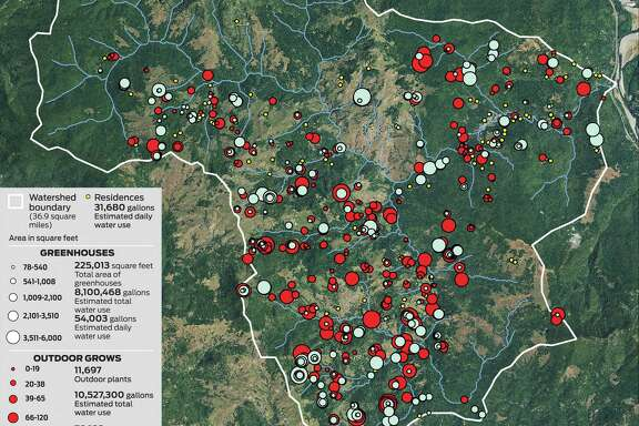 The Salmon Creek Watershed in Humboldt County. Imagery source: Agriculture Imagery Program 2012, U.S. Department of Agriculture, Farm Services Agency