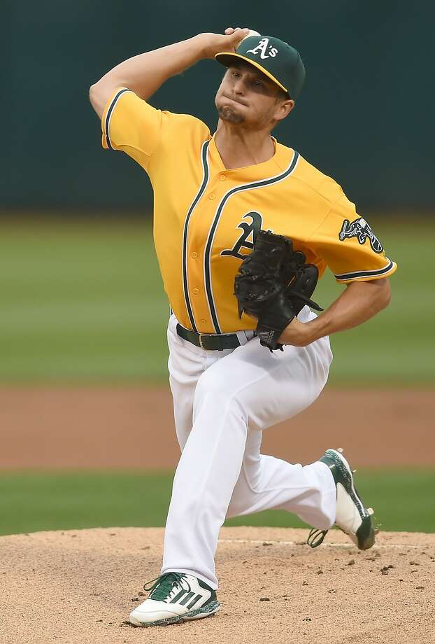Kendall Graveman allowed an unearned run and five hits in 6 2/3  innings Friday night. Photo: Thearon W. Henderson, Getty Images