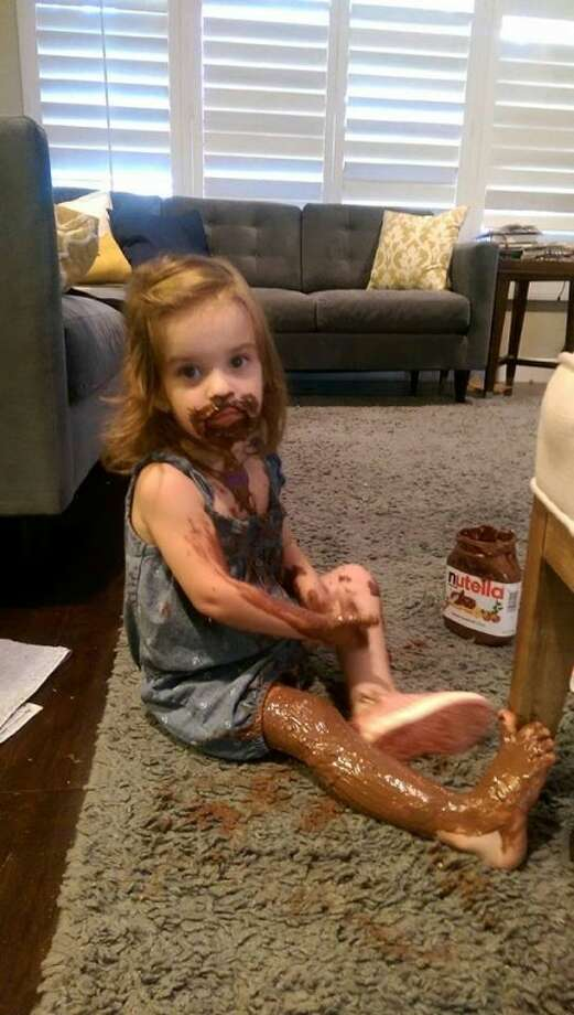 This is what happened the time your daughter used Nutella as lotion. Photo: Mommy Shorts