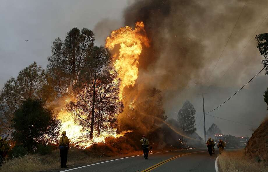 Fires are caused by the great abundance of natural fuels. The ground  is parched and dusty; the grasslands, lacking rain, have died; the winds  have whipped the fire over the hills and down the valleys. Photo: Jeff Chiu, Associated Press