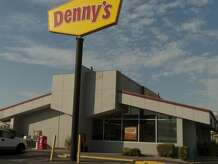 A violent fight at Denny's in Danbury led to two arrests Saturday morning.