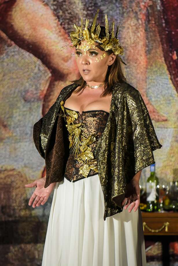 "Kindra Scharich as Minerva in Monteverdi's ""Return of Ulysses"" at West Edge Opera Photo: Mellopix"