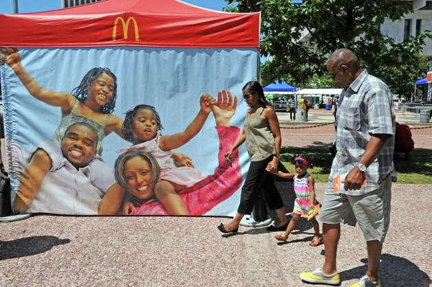 The McDonald's sponsored Black Arts and Cultural Festival at the Empire State Plaza on Saturday Aug. 1, 2015 in Albany, N.Y. (Michael P. Farrell/Times Union) Photo: Michael P. Farrell / 10032814A