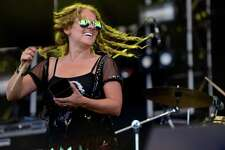 Jen Durkin, of Fairfield, performs with her band, Deep Banana Blackout, on the main stage during the 20th annual Gathering of the Vibes music festival Saturday, Aug. 1, 2015 at Seaside Park in Bridgeport, Conn. The band has played all but two of the 20 Vibes' festivals.