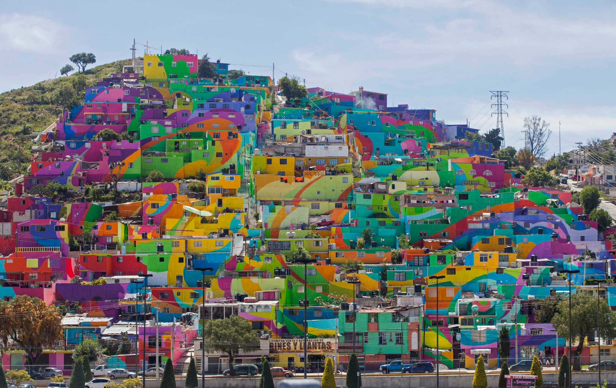 Image result for murals in poor neighborhoods