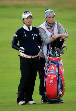 TURNBERRY, SCOTLAND - AUGUST 01:  Jin-Young Ko of South Korea waits to play her third shot at the par 5, 14th hole during the third round of the 2015 Ricoh Women's British Open on the Ailsa Course at the Trump Turnberry Resort on August 01, 2015 in Turnberry, Scotland.  (Photo by David Cannon/Getty Images) ORG XMIT: 560344141 Photo: David Cannon / 2015 Getty Images