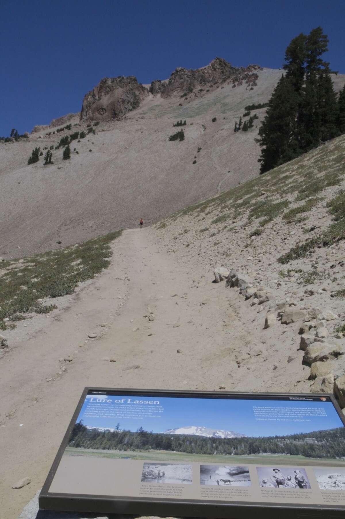 Trailhead for Lassen Peak is at 8,500 feet near the summit of the Lassen Park Highway