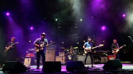 Wilco performs at the 20th Annual Gathering of the Vibes at Seaside Park in Bridgeport, Conn., on Saturday August 1, 2015.