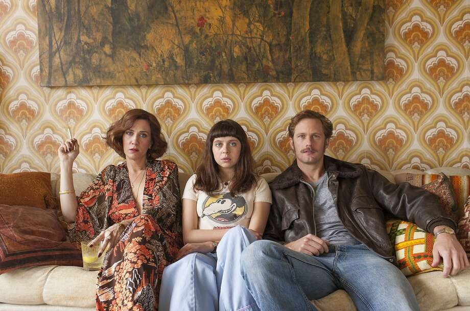 """Kristen Wiig (left) is Charlotte Goetze, Bel Powley is her daughter, Minnie, and Alexander Skarsgard is Monroe in """"The Diary of a Teenage Girl."""" Photo: Sam Emerson, Courtesy Sony Pictures Classics"""