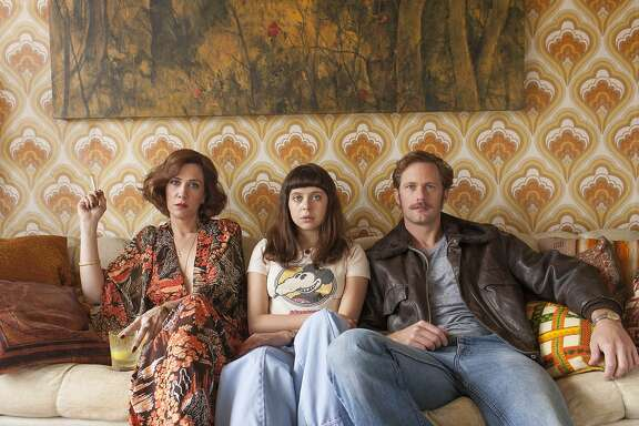 "DIARY3.jpg Caption: (l to r) Kristen Wiig as Charlotte Goetze, Bel Powley as Minnie Goetze and Alexander Skarsgard as Monroe in the new movie ""The Diary of a ""The Diary of a Teenage Girl,"" which was set and filmed in San Francisco. The movie is based on Phoebe Gloeckner's graphic novel of growing up in 1970s San Francisco.  Credit: Photo by Sam Emerson, Courtesy of Sony Pictures Classics  Credit: Photo by Sam Emerson, Courtesy of Sony Pictures Classics"