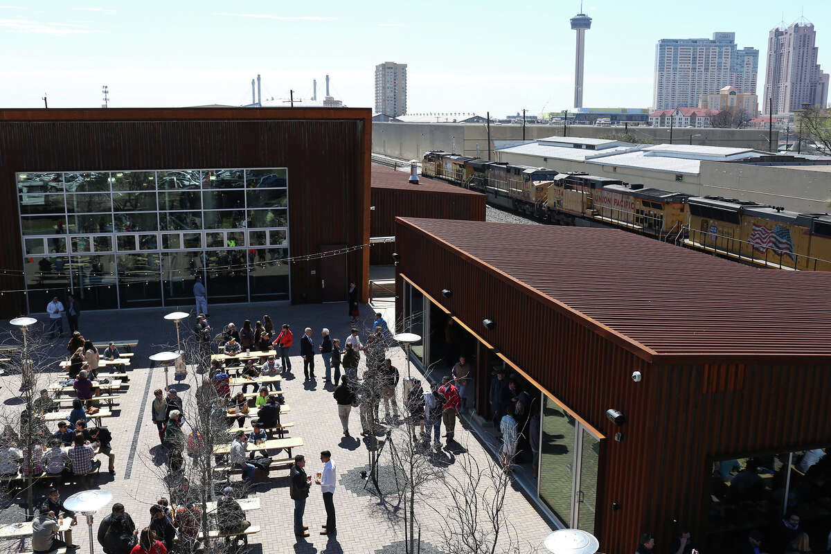 A crowd filled the beer garden at the March opening of Alamo Beer Co. on the near East Side. A study conducted for the National Beer Wholesalers Association and the Beer Institute pointed out that the number of physical breweries has increased substantially over the past two years, with most of the facilities being