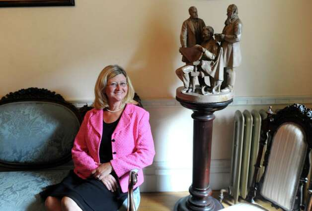 Karin Krasevac-Lenz the new executive director of the Rensselaer County Historical Society on Thursday July 30, 2015 in Troy, N.Y. (Michael P. Farrell/Times Union) Photo: Michael P. Farrell / 10032826A