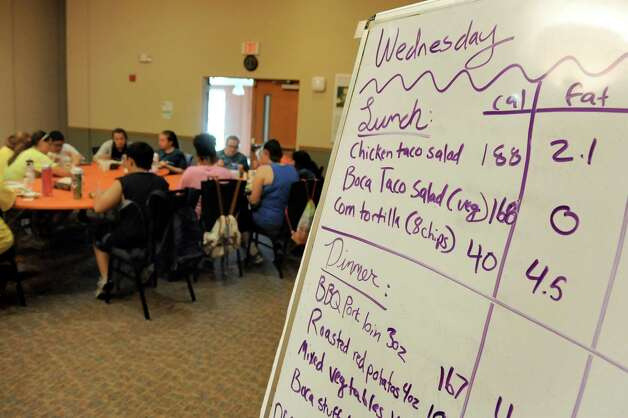The day's lunch and dinner menu during the Wellspring New York camp on Wednesday, July 15, 2015, at Union College in Schenectady, N.Y. (Cindy Schultz / Times Union) Photo: Cindy Schultz / 00032633A