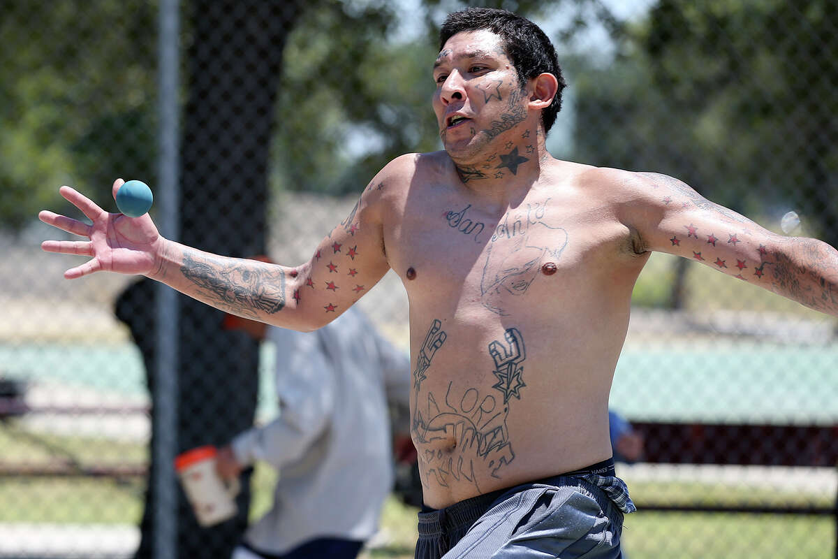 In the heat of the late morning, Jose Luis Cisneros, 28, plays handball at Escobar Park on the city's West Side, Sunday, August 2, 2015. Temperatures reached the high 90's during the afternoon with lows in the 70's at night. The pattern is expected to continue through the week.