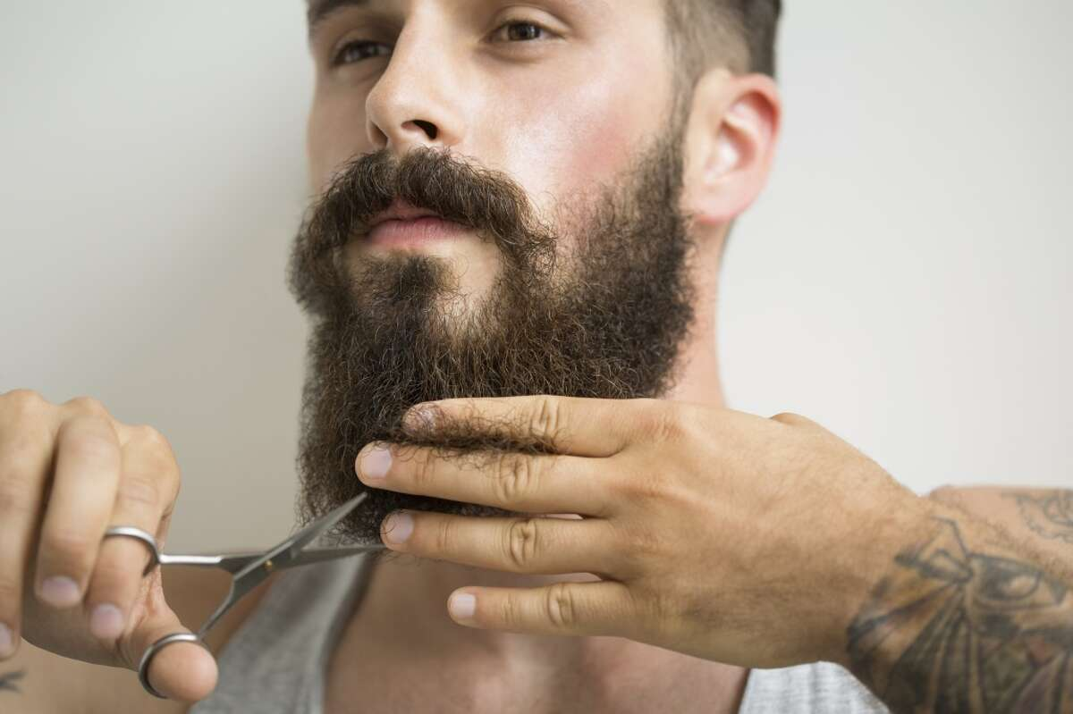 No illegal beards. Legal beards meet a certain length requirement. Some offices have rules that regulate the combination of both the beard and mustache.