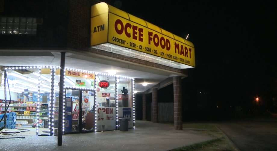 Screenshot of video footage from the Ocee Food Store robbery.