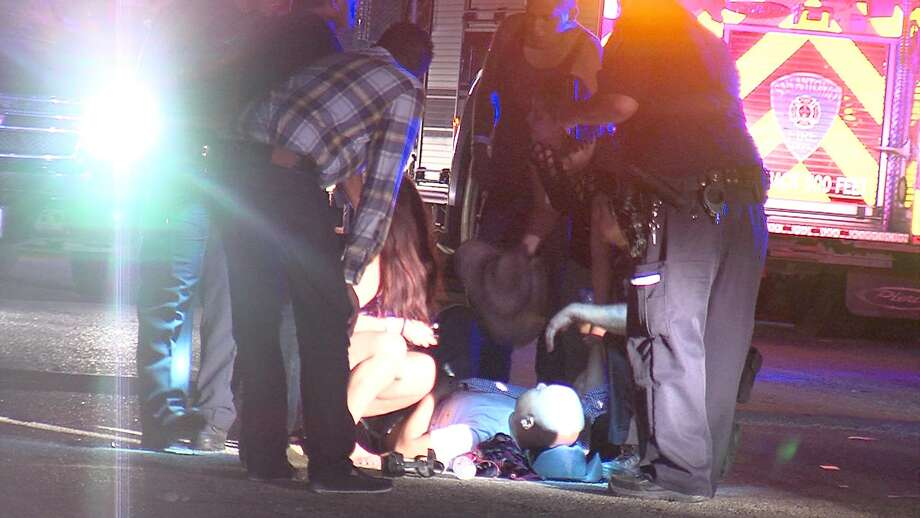A man and woman were injured Monday morning during a shooting on the North Side. Photo: 21 Pro Video