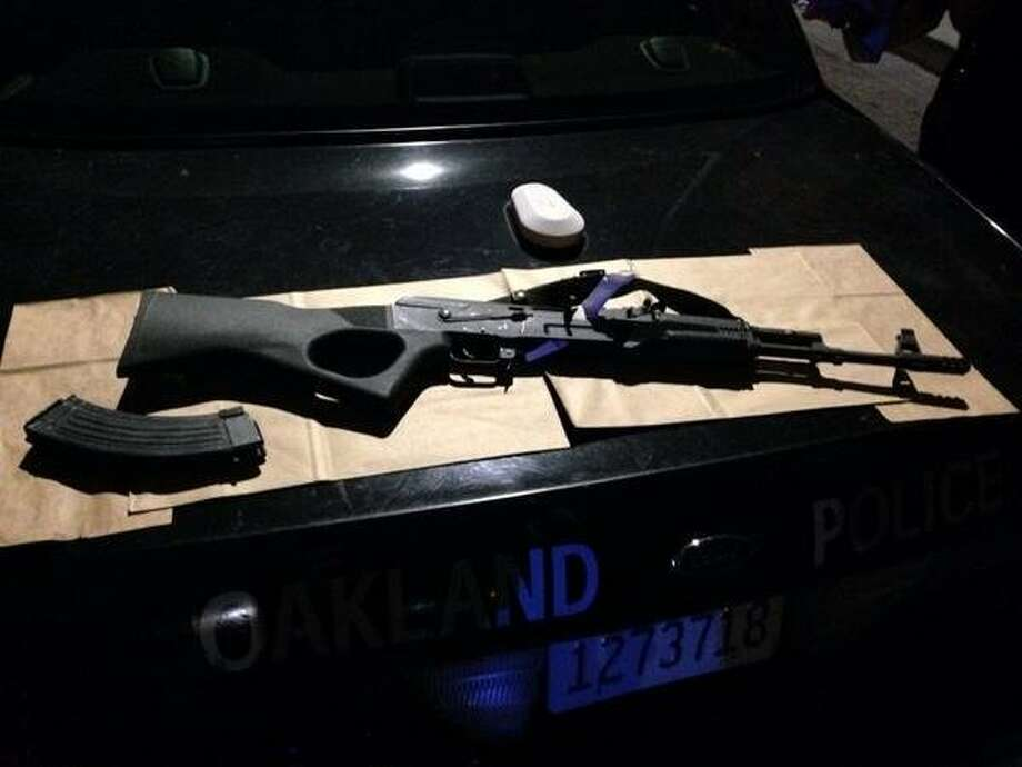 Oakland police say Antonio Clements shot at officers with this AK-47 rifle before he was mortally wounded. Photo: Oakland Police