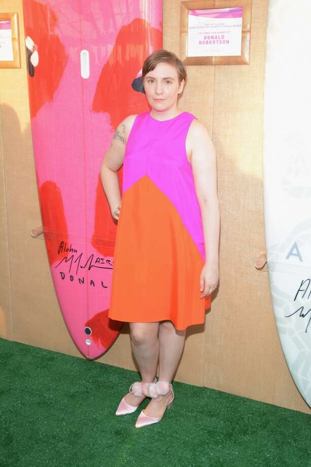 Lena Dunham toasts to Paddle for Pink with Moet Ice Imperial on August 1, 2015 in Bridgehampton, New York. (Photo by Steven Henry/Getty Images for Moet & Chandon)