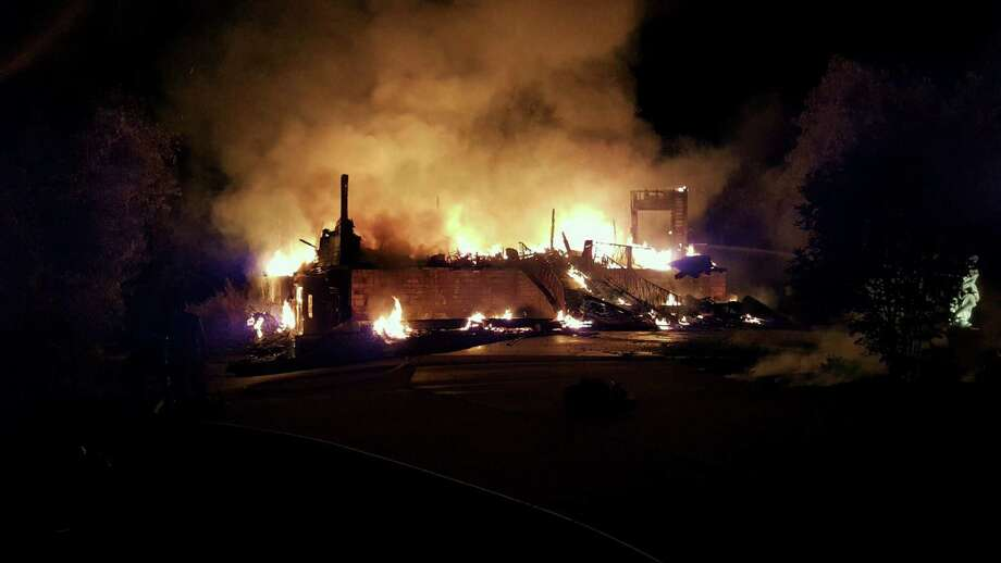 An 8,000-square-foot home was destroyed in Hearne, Texas, on August 2, 2015. Photo via KBTX. Photo: Courtesy
