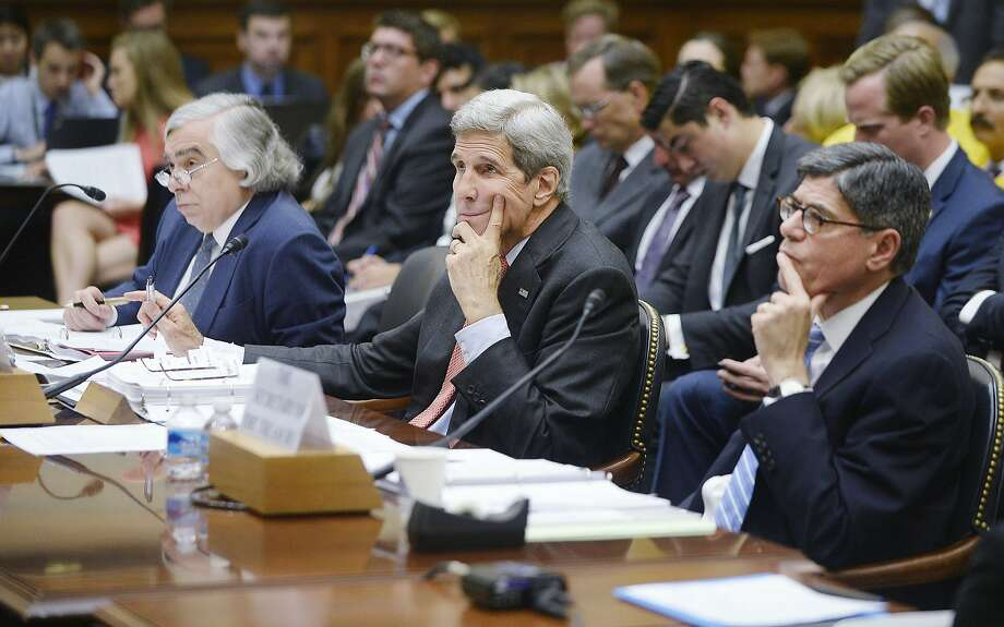 Secretary of State John Kerry (center) testifies before a House committee about the Iran nuclear agreement last month. Photo: Olivier Douliery, Getty Images