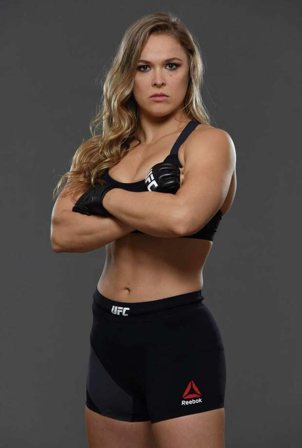 RIO DE JANEIRO, BRAZIL - JULY 28:  UFC women's bantamweight champion Ronda Rousey poses for a portrait during a UFC photo session at the Sheraton Rio Hotel on July 28, 2015 in Rio de Janeiro, Brazil. Photo: Jeff Bottari/Zuffa LLC, Getty Images / 2015 Jeff Bottari/Zuffa LLC
