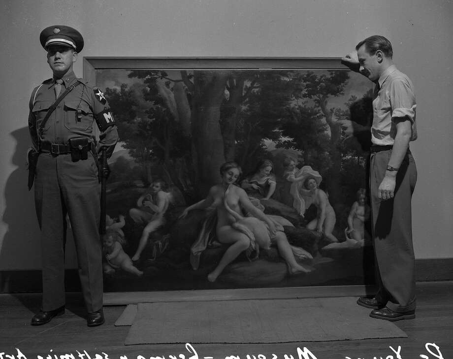 A December 1948 show at the De Young Museum of some of the art found in the salt mines in Bavaria by the United States Army in 1945 Photo: The Chronicle