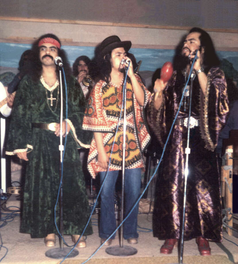 Little Joe y la Familia, circa 1975, featuring Johnny (left to right), Rocky and Joe Hernandez. Little Joe was a pioneer of Chicano music and one of Tejano's early stars. Photo: Hispanic Entertainment Archives